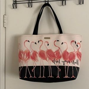 Kate Spade Flamingo Strut Your Stuff Tote